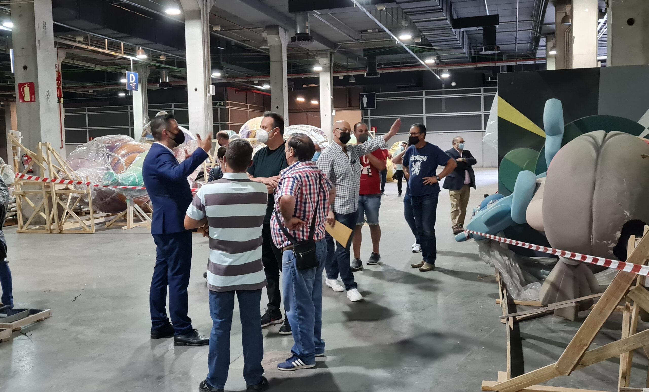 Reunión Galiana y Artistas Falleros en Feria Valencia Foto: Ajuntament de València