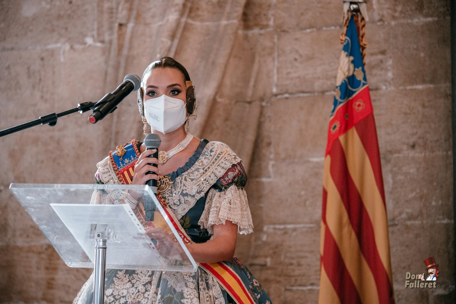 Momento del agradecimiento de Consuelo Llobell. Foto: Fran Adlert/Don Falleret