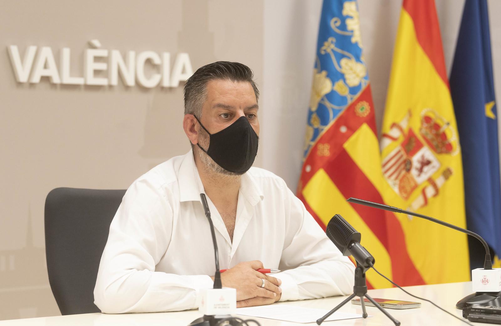 El concejal de Cultura Festiva y presidente de la Junta Central Fallera, Carlos Galiana